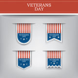 Veterans day ribbon elements for websites. Stock Image