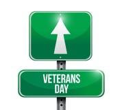 Veterans day road sign illustration design Stock Photography