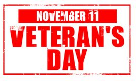 Veterans day - rubber stamp Royalty Free Stock Photos