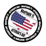 Veterans day - rubber stamp Royalty Free Stock Images
