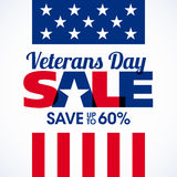 Veterans Day Sale banner or poster template Stock Photo