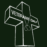 Veterans day sign Stock Image