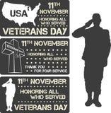 Veterans day sign stock illustration