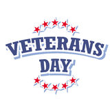 Veterans day sign. On white background illustration Royalty Free Stock Image