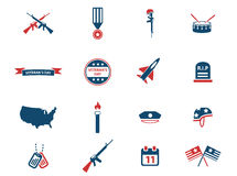Veterans Day simply icons Stock Images