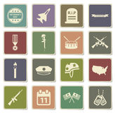 Veterans day simply icons Royalty Free Stock Photos