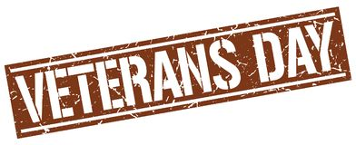 Veterans day stamp. Veterans day square grunge sign isolated on white. veterans day stock illustration