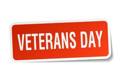 Veterans day sticker. Veterans day square sticker isolated on white background. veterans day royalty free illustration