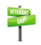 Veterans day street sign illustration design Royalty Free Stock Photography
