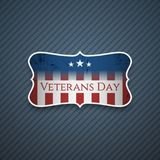 Veterans Day Text on realistic Banner. Vector Illustration Royalty Free Stock Photos