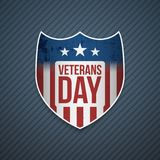 Veterans Day Text on realistic Emblem. Vector Illustration Royalty Free Stock Photography
