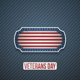 Veterans Day Text on realistic Label. Vector Illustration Royalty Free Stock Photo