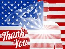 Veterans Day Thank You American Flag Stock Photos