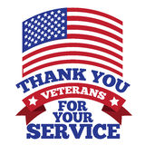 Veterans Day thank you design Royalty Free Stock Photo