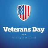 Veterans Day USA banner Royalty Free Stock Photography