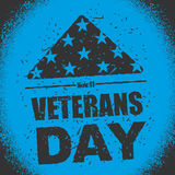 Veterans Day in USA. Flag America folded in triangle symbol of m Stock Image