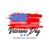 Veterans day with USA flag background. Memorial day poster design. Honoring all who served. Veterans day with USA flag background. Memorial day poster design Stock Image