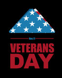 Veterans Day. USA flag symbol of mourning and grief for fallen s Royalty Free Stock Photos