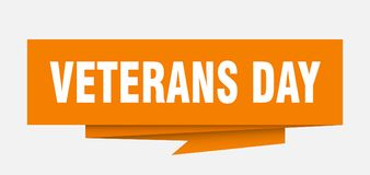 Veterans day. Sign.  paper origami speech bubble.  tag.  banner vector illustration