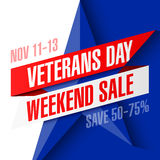 Veterans Day Weekend Sale banner Stock Photo