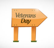 Veterans day wood sign illustration design icon Stock Photography