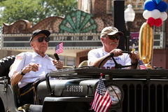Veterans at Fourth of July Parade Royalty Free Stock Images