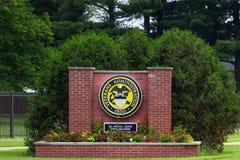 Veterans Hospital Sign stock images