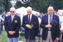 Veterans of Korean War Saluting Stock Photography