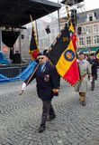 Veterans march in Bruges Stock Photography