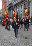 Veterans march in Bruges Stock Images