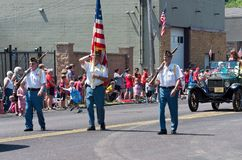 Veterans March in Mendota Days Parade Royalty Free Stock Photography