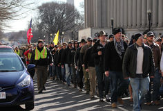 Veterans marching for Ron Paul Royalty Free Stock Photography