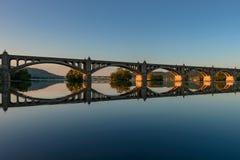 Veterans Memorial Bridge. Spans the Susquehanna River between Columbia and Wrightsville, Pennsylvania stock photo