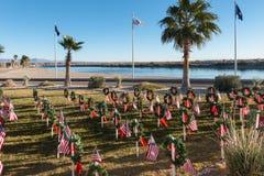 Veterans Memorial in Bullhead City, Arizona. The Veterans Memorial on the Colorado River, Bullhead City, Arizona Royalty Free Stock Image