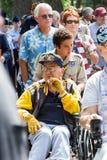 Veterans at the memorial day parade Royalty Free Stock Image