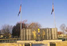 Veterans Memorial, Midwestern United States Stock Image