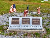 Veterans' Memorial in PA Stock Photography