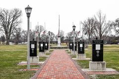 Veterans Memorial Plaza - Traxler Park, Janesville, WI stock photography