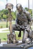Veterans Memorial Soldier Helmet and Rifle Bronze Statue 3 Royalty Free Stock Photos