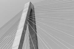 Veterans Memorial stay bridge across the Mississippi River in St Royalty Free Stock Photo