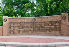 Veterans Memorial Wall Royalty Free Stock Photography
