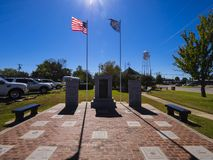 Veterans monument at Stroud Area in Oklahoma - STROUD - OKLAHOMA - OCTOBER 16, 2017. Photography Stock Photos