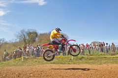 Veterans MX rider Royalty Free Stock Photography
