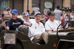 Free Veterans Of The Korean War On Fourth July Parade Royalty Free Stock Images - 123943479