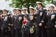 Veterans Parade Stock Photo