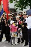 Veterans Parade - SEVASTOPOL, UKRAINE Royalty Free Stock Photo