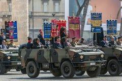 Veterans participating at military parade of Italian National Da Stock Photo