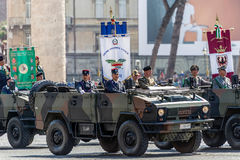 Veterans participating at military parade of Italian National Da Royalty Free Stock Image