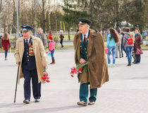 Veterans of the Patriotic war. Stock Photo