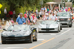 Veterans Ride In Convertibles At Old Soldiers Day Parade stock photo